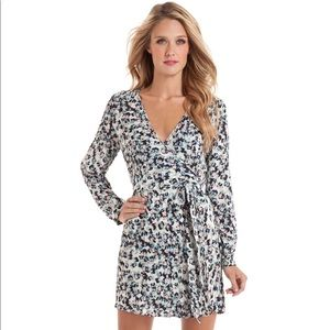 Guess By Marciano Tricia Floral Wrap Silk Dress